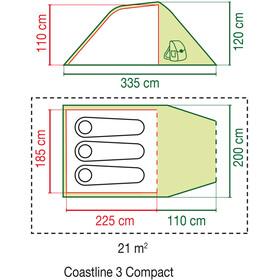 Coleman Coastline 3 Compact Tiendas de campaña